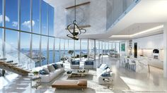 Get some spectacular Penthouse interior design ideas with The Architecture Designs. Visit our website for more ideas. Mansion Interior, Dream House Interior, Luxury Homes Dream Houses, Dream Home Design, Modern House Design, Luxury Interior, Interior Design, Modern Houses, Luxury Penthouse