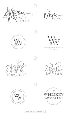 New Brand Launch: Whiskey & White Events | Logo concepts by Salted Ink | www.saltedink.com | #logo #brand #design