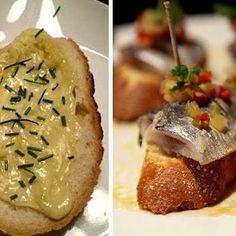 Tapas de ajo, pescado y sarsa
