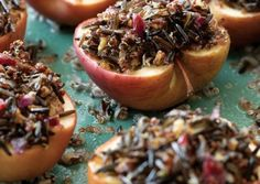 Baked Apples Stuffed with Wild Rice and Quinoa