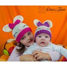 Olivia el patrón del conejito Sombrero de ganchillo