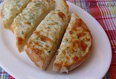 Cheesy garlic bread? YUM!!