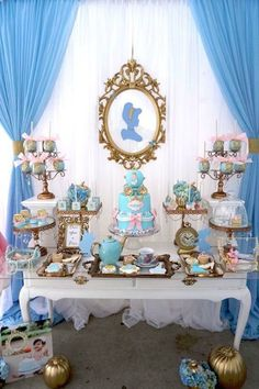 Godmother Cinderella Birthday Party table from Fairy Godmother Cinderella Birthday at Kara's Party Ideas. See more at !Party table from Fairy Godmother Cinderella Birthday at Kara's Party Ideas. See more at ! 1st Birthday Parties, Girl Birthday, Birthday Ideas, Cake Birthday, Cinderella Birthday Parties, Birthday Crowns, Tinkerbell Party, Birthday Quotes, Birthday Invitations