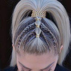 Pretty Hairstyles, Girl Hairstyles, Braided Hairstyles, Braided Updo, Curly Hair Styles, Natural Hair Styles, Viking Hair, Viking Braids, Festival Hair