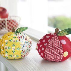 本物そっくり!まん丸リンゴの形のかわいいポーチの作り方(パッチワーク) | ぬくもり