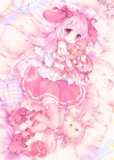 Manga Kawaii, Loli Kawaii, Cute Anime Chibi, Kawaii Chibi, Chica Anime Manga, Kawaii Art, Kawaii Anime Girl, Anime Girl Pink, Anime Girl Cute