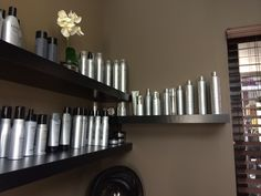 Find your...product! Salon Lofts Anderson Loft Owner Ashley Kutcher artfully displays her retail! #salonlofts #salonloftscincinnati #cincinnatisalon #ashleykutcher