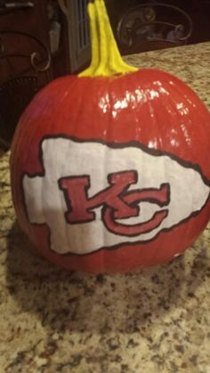 Kansas City Chiefs pumpkin #kcchiefs