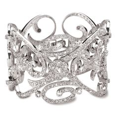 Beautiful Floral/Scrolled Silver & Sparkly Cuff...out of character for me, but LOVE IT none-the-less!!