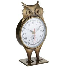 Tabletop Owl Clock