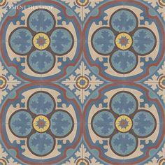 Cement Tile Shop - Encaustic Cement Tile Philadelphia Blue