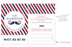 ontwerp logo en huisstijl - Le Barbier - www.petitemadeleine.be
