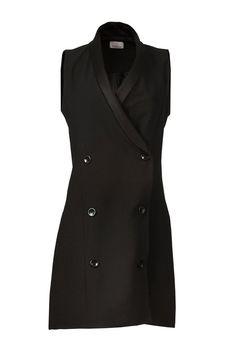 Colete e vestido de alfaiataria preto da marca Coleteria ♡ - Coletes femininos e infantis - Coleteria | sempre♡