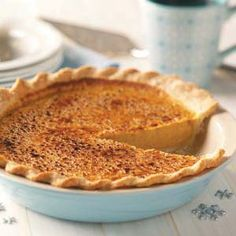 Holiday Pumpkin Pie Recipe from Taste of Home #thanksgiving