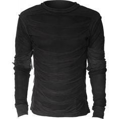 Gothic shop: men's longs-leeve top slashed front
