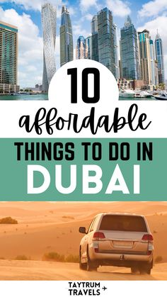 Visiting Dubai, UAE doesn't have to be expensive! There are plenty of budget friendly options. Here are ten things that you can do for less than $100! #UAEtravel Dubai Travel, Us Travel, Family Travel, Travel Guides, Travel Tips, Travel Destinations, Visit Dubai, Famous Buildings, Dubai Mall