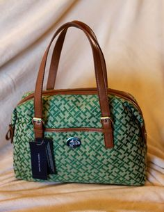 """TOMMY HILFIGER BAG awaits YOU!!!  GRAB IT NOW!!!  ORIGINAL!! FRESH FROM U.S..  CODE: YFC-B00008  ITEM:Tommy Hilfiger     COLOR: GREEN  SIZE: 13""""x5""""x8"""" Tommy Hilfiger Handbags, Baggage, Louis Vuitton Speedy Bag, Purses And Bags, Wallets, Watches, My Style, Closet, Outfits"""
