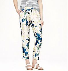 J. Crew Collection track pant in cove floral, J.Crew ($198)