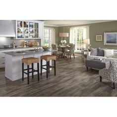 Mannington Adura Max Flooring Luxury Vinyl Plank Sandpiper Color Easy Installation Extremely Durable Low Maintenance sq/ft Per Box Call for the current sale price. Grey Flooring, Kitchen Flooring, Wood Floors Wide Plank, Luxury Vinyl Plank, Home Decor, Waterproof Laminate Flooring, Wood Kitchen, Best Kitchen Colors, Vinyl Flooring