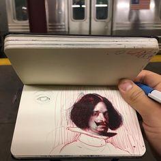 Train drawing #drawing #ballpointpen #velazquez