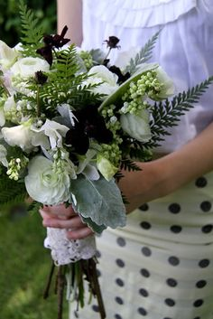 Fern and sweet pea bouquet by Sarah Winward