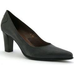 Escarpins rosemetal l0139d de couleur gris, en cuir. Chaussures avec un talon de…