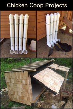 Chicken Coop Projects Raising chickens has a lot of benefits. Raising Farm Animals, Raising Ducks, Backyard Chicken Coops, Chickens Backyard, Pet Chickens, Raising Chickens, Chicken Coop Blueprints, Chicken Coup, Farm Fun