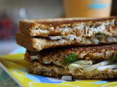 grilled thai inspired peanut butter sandwich. just had this for dinner the other night. yum! #recipe #craftzine