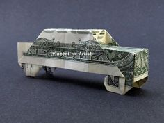 CAR Dollar Origami - Vehicle made with Real Money