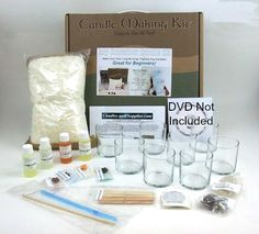 Soy Container Candle Making Kit $44.99  This kit yields (8) candles.   Production Price Per Candle: $5.50