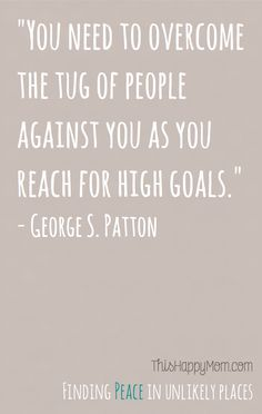 If I'm angry about not meeting my goals, perhaps the issue isn't the tug of people against me.  Perhaps it's the quality of the goal I set.  Starting with the RIGHT goal matters.