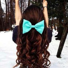 This is so a nice color of bow with her hair color!!!