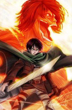 I love this fan art on DeviantArt. Eren and his inner Titan. From attack on Titan