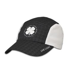 Black Clover Lucky Sport Biking Hat Black with White Sides