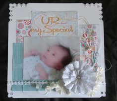 #Marianne Design Team ☆JP☆ #Marianne Design #Doily #scrapbooking #baby #layout