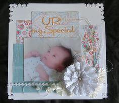 #Marianne Design Team ☆JP☆ #Marianne Design #Doily #scrapbooking #baby #layout