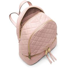 MICHAEL Michael Kors Rhea Medium Quilted Backpack ( 380) ❤ liked on  Polyvore featuring bags 8f48967649