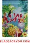 Luau Party Garden Flag - 1 left