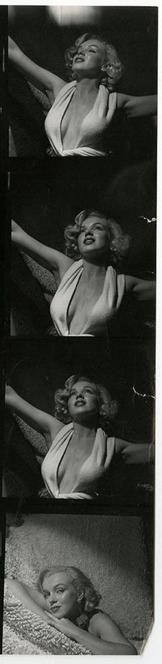 Marilyn Monroe 1951 Vintage Anthony Beauchamp Contact Sheet Photograph 12 Images | eBay