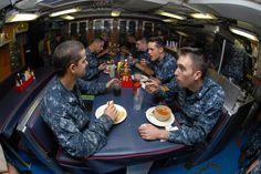 USS Norfolk News, Los Angeles Class Submarine, Mess Hall