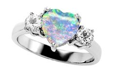 unique wedding rings for women | Unique and Colorful Heart Shaped Engagement Rings
