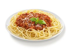 Meat Spaghetti or even spaghetti with a simple tomatoes, onions and garlic.