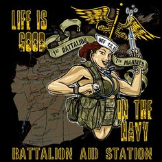 Looking for a Battalion Aid Station Afghanistan Devil Doc Hospital Corpsman Pinup Girl Deployment Shirt? Afghanistan, 7 Marine, Navy Corpsman, Military Signs, Navy Life, Home Of The Brave, Navy Shirts, Pin Up Girls, Pinup