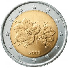 Suomi 2003 2 € UNC World Coins, Finland, Gold, Coins, Stop It, Coin Collecting, Pendulum Clock, Yellow