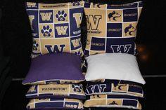 University of WASHINGTON HUSKIES 8 Cornhole Bags 8 by lots2ofr2, $22.99