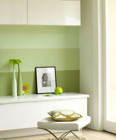 Wandgestaltung: Streifendesign für die Wände - Wohnen & Garten