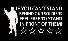 Support stand behind our US troops Soldiers #Military