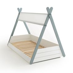 Siffroy children's tipi bed frame , white, La Redoute Interieurs Toddler Floor Bed, Boy Toddler Bedroom, Toddler Rooms, Baby Bedroom, Baby Boy Rooms, Kids Bedroom, Baby Floor Bed, Master Bedroom, Teepee Bed
