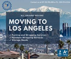 Looking to move to #LosAngeles? All Around Moving is one of the top Los Angeles #Moving Companies when looking to move long distance from #NYC or elsewhere! #LA  Contact us today at 212.781.4118 to speak to a company representative. Moving Companies, Moving To Los Angeles, Long Distance, Nyc, New York City