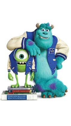 Sulley e  Mike -  Monstros Universidade